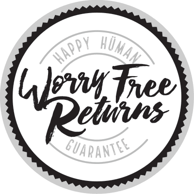 Worry Free Returns - Happy Human Guarantee