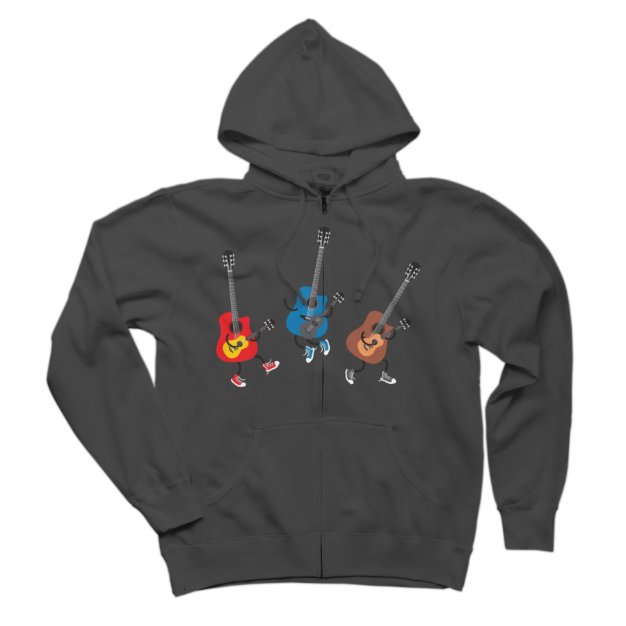 Dancing guitars Zip Hoodie Sweatshirt
