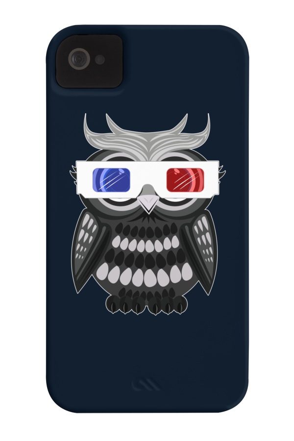 Owl 3D Glasses Barely There Phone Case 213064