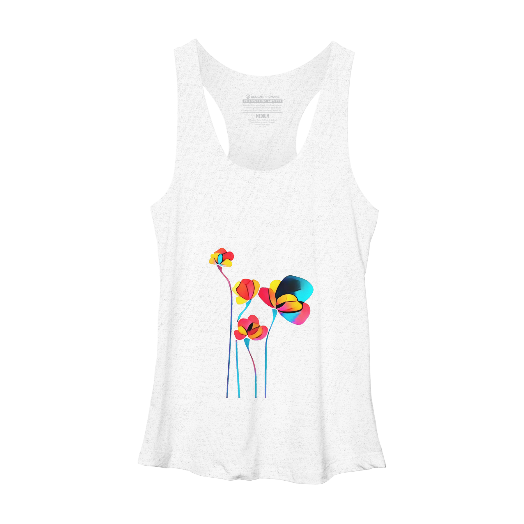 Abstract Flowers Racerback