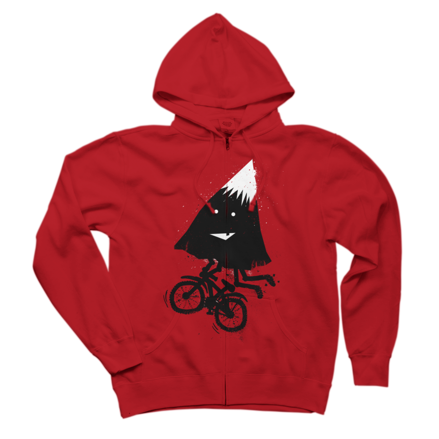 Mountain Biking Zip Hoodie Sweatshirt