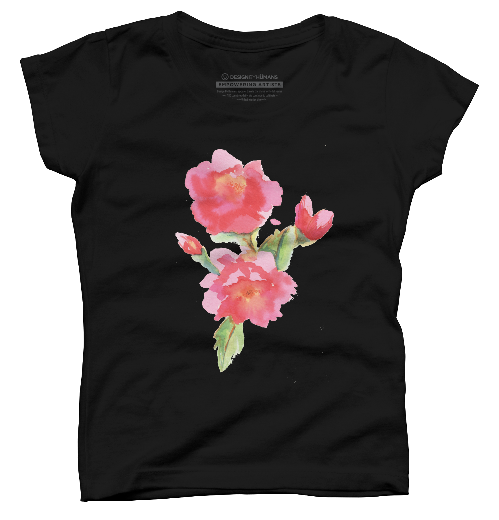 Water Color Roses Girls T Shirt 585060
